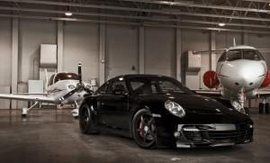 Porsche 911 with Aircraft